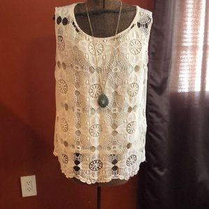 Women's size XL lace/sheer tank top